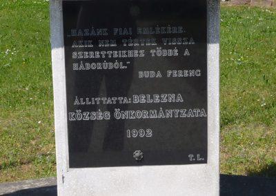 Belezna világháborús emlékmű 2009.05.08.küldő-Sümec (2)