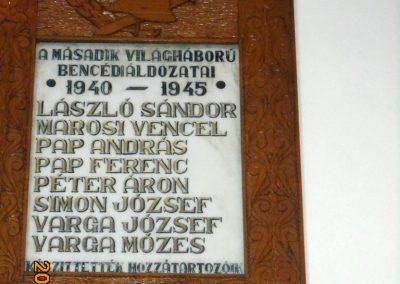 Bencéd II. világháborús emléktábla 2017.08.22. küldő-Szklenár László (1)