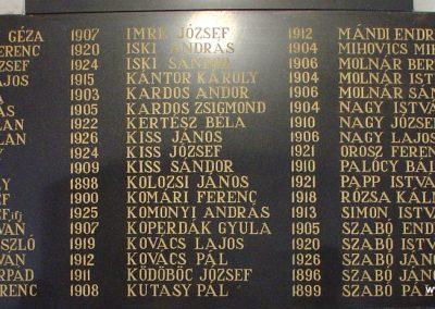 Beregszász ref. templom II.vh emléktábla 2009.07.11. küldő-Pfaff László, Rétság (2)