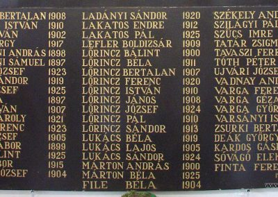 Beregszász ref. templom II.vh emléktábla 2009.07.11. küldő-Pfaff László, Rétság (3)