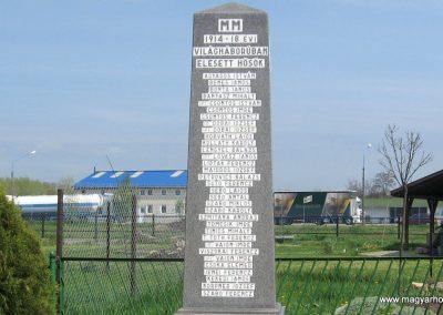 Berzék I.vh emlékmű 2008.04.21. küldő-kalyhas