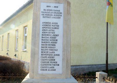 Biatorbágy I. világháborús emlékmű 2019.03.23. küldő-Bóta Sándor (3)