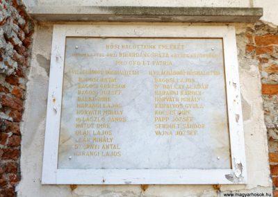 Bihardancsháza világháborús emléktábla 2018.05.26. küldő-Bóta Sándor (2)