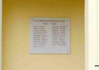 Bocska, templom I.vh emléktábla 2007.08.15. küldő- Hunmi (1)