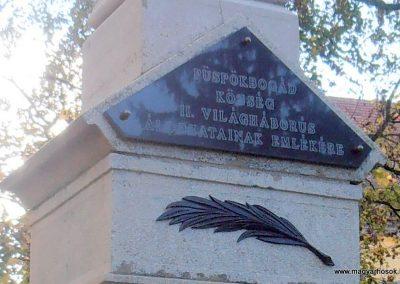 Bogád világháborús emlékmű felújítás után 2013.11.03. küldő-Bagoly András (3)