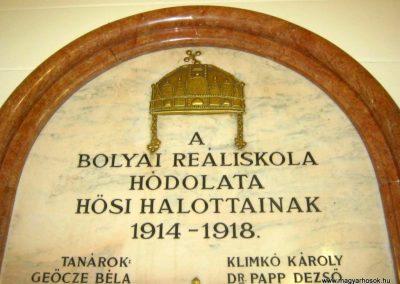Budapest V. kerület Bolyai Reáliskola I. világháborús emlékmű 2018.06.29. küldő-Emese (2)