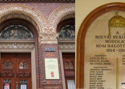 Budapest V. kerület Bolyai Reáliskola I. világháborús emlékmű 2018.06.29. küldő-Emese