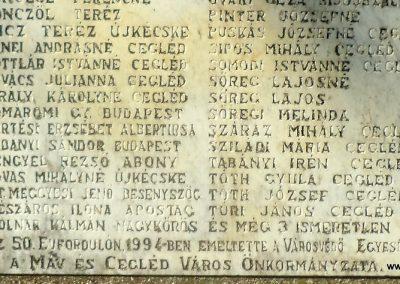 Cegléd II. világháborús emlékmű - a ceglédi bombatámadás áldozatai - 2016.07.29. küldő-belamiki (4)