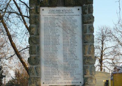 Cigánd Hősi emlékmű 2009.01.03. küldő-Ágca (1)