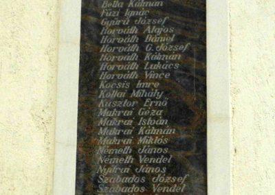 Cirák I. és II. vh-s emléktáblák