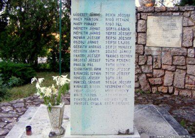Csákberény I. világháborús emlékmű