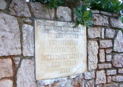 Csákberény II. világháborús emlékmű