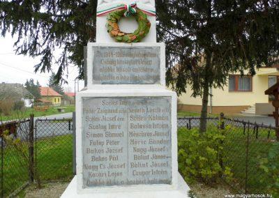 Csánig I. és II. vh-s emlékmű