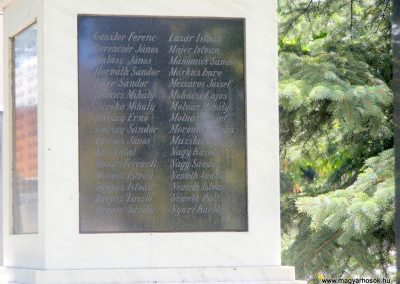 Császár, I. és II. világháborús emlékmű