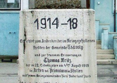 Csávoly I. világháborús emlékmű 2007.12.08. küldő-Markó Péter (1)