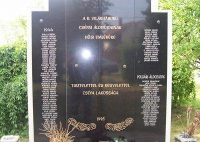 Csépa II.vh emlékmű 2009.05.14. küldő-miki