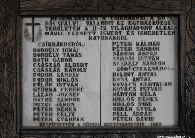 Csíkrákos és Göröcsfalva közös II.vh emlékmű 2009.03.13.küldő-Gyurkusz (1)