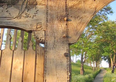 Csíkrákos I. világháborús emlék Székelykapu, a templom bejárata 2014.06.06. küldő-kalyhas (10)