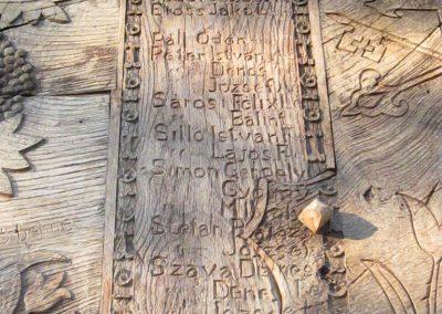 Csíkrákos I. világháborús emlék Székelykapu, a templom bejárata 2014.06.06. küldő-kalyhas (11)