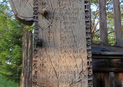 Csíkrákos I. világháborús emlék Székelykapu, a templom bejárata 2014.06.06. küldő-kalyhas (15)