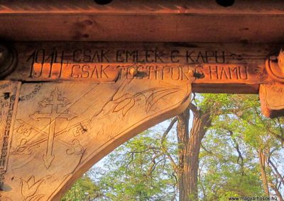 Csíkrákos I. világháborús emlék Székelykapu, a templom bejárata 2014.06.06. küldő-kalyhas (5)