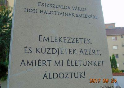 Csíkszereda Hősi emlékmű 2017.08.24. küldő-Feheér Mónika (3)