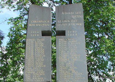 Csíktaploca, ma Csíkszereda része világháborús emlékmű 2004.05.30. küldő-Pfaff László, Rétság (1)
