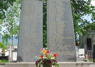 Csíktaploca, ma Csíkszereda része világháborús emlékmű 2004.05.30. küldő-Pfaff László, Rétság (2)