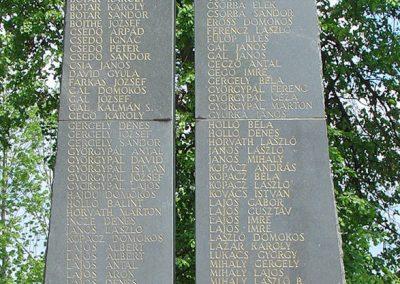 Csíktaploca, ma Csíkszereda része világháborús emlékmű 2004.05.30. küldő-Pfaff László, Rétság (3)