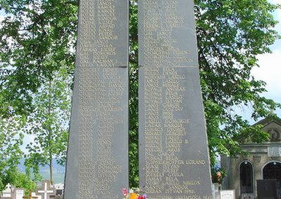 Csíktaploca, ma Csíkszereda része világháborús emlékmű 2004.05.30. küldő-Pfaff László, Rétság