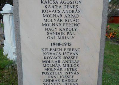 Csíkverebes világháborús emlékmű 2017.08.23. küldő-Szklenár László (1)