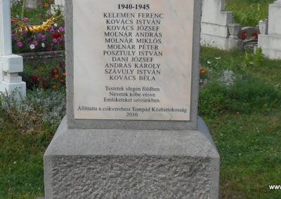 Csíkverebes világháborús emlékmű 2017.08.23. küldő-Szklenár László (3)