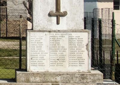 Csősz, I. világháborús emlékmű