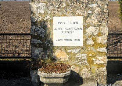 Csősz, II. világháborús emlékmű