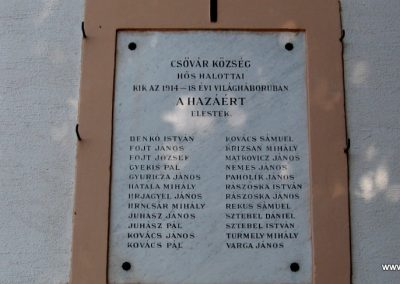 Csővár világháborús emléktáblák 2009.09.28. küldő-kalyhas (2)