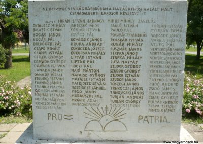 Csanádalberti I. világháborús emlékmű 2013.06.15. küldő-Sümec (5)