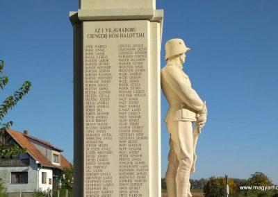 Csenger felújított világháborús emlékmű 2018.11.12. küldő-Eszterhai Zsuzsa (2)