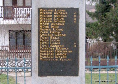Cserépfalu II.vh emlékmű 2007.03.09. küldő-kalyhas (1)
