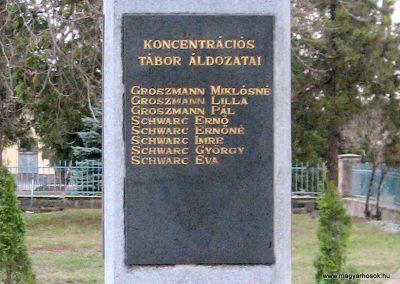 Cserépfalu II.vh emlékmű 2007.03.09. küldő-kalyhas (2)