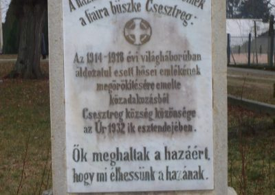 Csesztreg I.vh emlékmű 2009.02.12.küldő-Sümec (3)