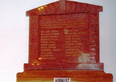 Csicsó Református templom I. világháborús emléktábla 2009.10.29. küldő-Nagy Amália (1)