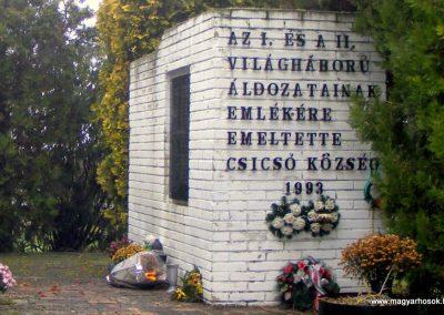 Csicsó világháborús emlékmű 2012.12.16. küldő-Méri (4)
