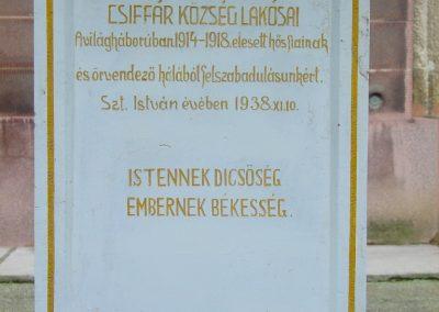Csiffár I.vh emlékmű 2008.12.05. küldő-Pfaff László,Rétság (1)
