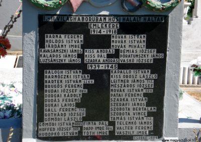 Csobád világháborús emlékmű 2011.05.17. küldő-megtorló (2)