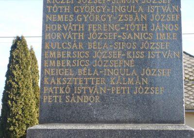 Csokonyavisonta--Erdőcsokonya-- világháborús emlékmű 2009.01.08.küldő-Sümec (7)