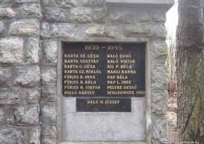 Csokvaomány világháborús emlékmű 2008.02.18.küldő-Kályhás (3)