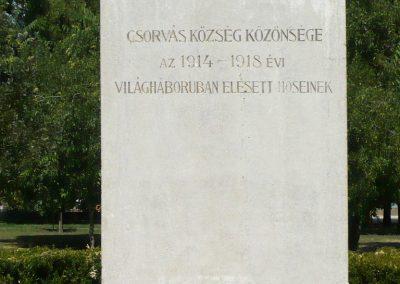 Csorvás I. világháborús emlékmű 2012.08.02. küldő-Sümec (5)