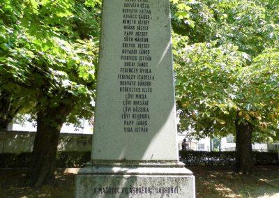 Dabrony II. világháborús emlékmű