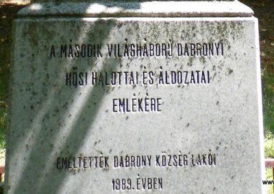 Dabrony II. világháborús emlékmű 2015.07.25. küldő-Méri (3)