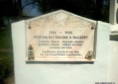 Dalmand- Alsóleperd I.vh emlékmű 2012.04.28. küldő-miki